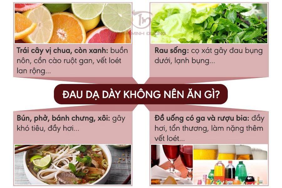 Món ăn chữa đau dạ dày