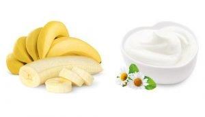 Cách trị nám da bằng chuối – sữa chua