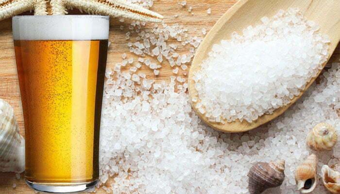 Tắm trắng bằng bia và muối