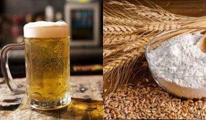 Tắm trắng bằng bia và cám gạo