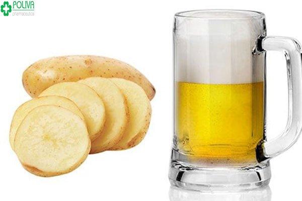 Tắm trắng bằng bia và khoai tây