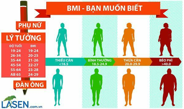 Chỉ Số Khối Cơ Thể (BMI) Cho Vóc Dáng Nam Nữ Chuẩn Việt